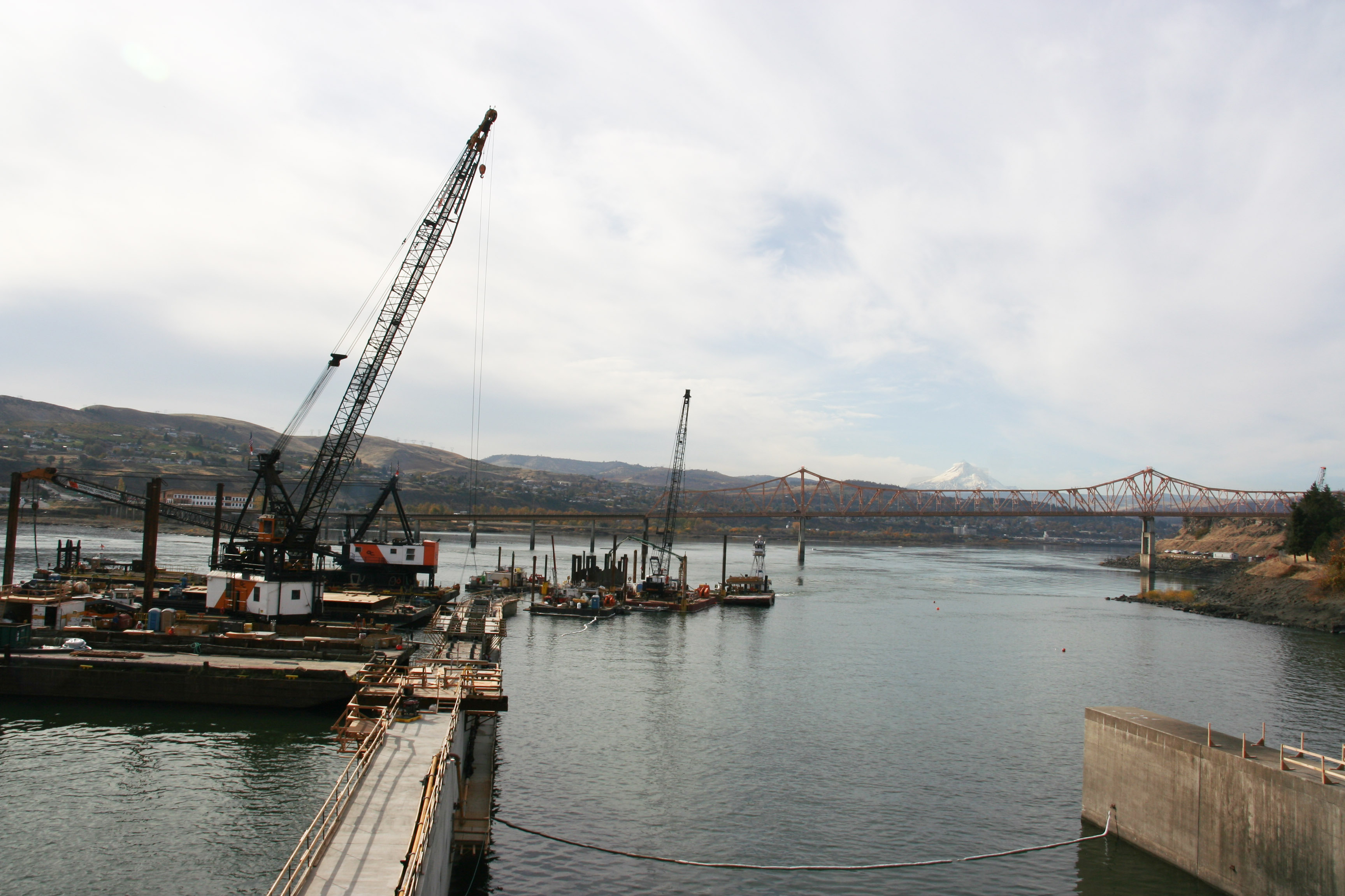 The Dalles Dam Spillway Bay 8 and 9