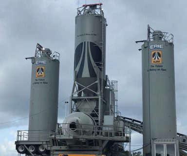 Ajax Posts Agitor at Concrete Batch Plant