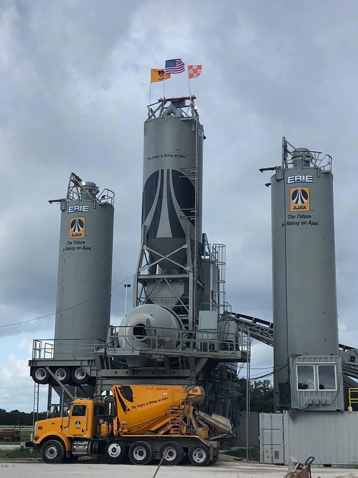 Ajax Posts Agitor at Concrete Batch Plant