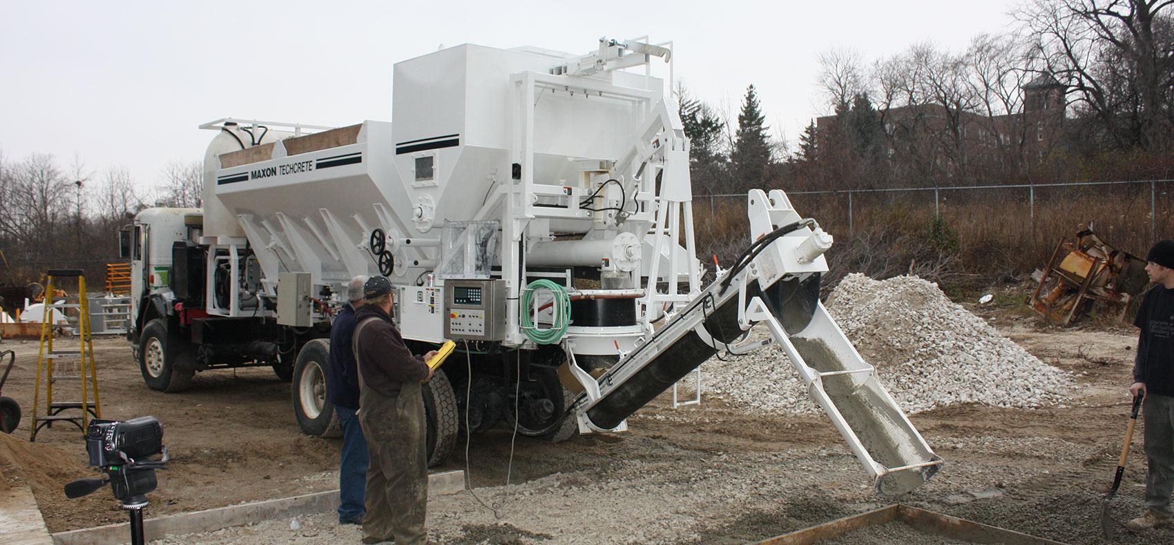 Mobile Concrete Mixing - Concrete Placement | Maxon Industries, Inc