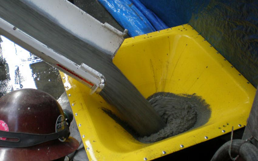 Barge mounted concrete production
