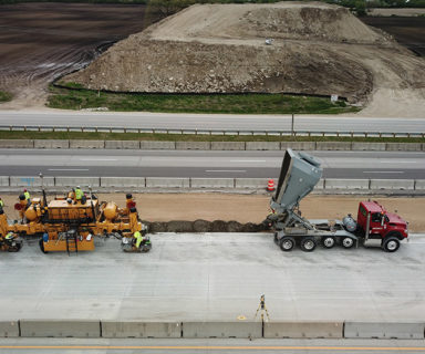 Michels Paves I-94 with Maxon Agitors