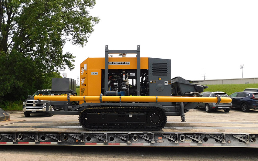 Track-Mounted TK50 for Remote Concrete Delivery!